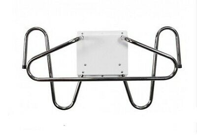 Wall Mounted Chrome X-Ray Apron and Glove Holder