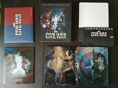 Captain America Civil War Fnac steelbook Marvel - Fullslip Blufans - Discs Weet