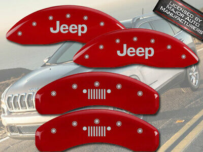 MGP Caliper Covers JEEP Grill Engraving For 2014-2019 Jeep CherokeeYellow