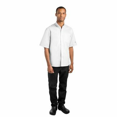 Le Chef Unisex Prep 'NYC' Style Chef Shirt Buttons Short Sleeve Loose Fit S