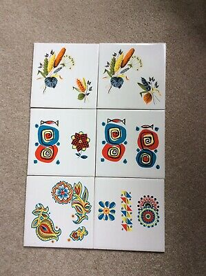 Fantastic 1970's Retro Vintage Tiles by H&R Johnson Ltd