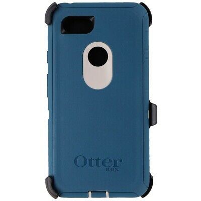 Otterbox Defender Case for Google Pixel 3 XL-Big Sur (Pale Beige/Corsair) (Blue)