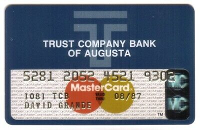 Trust Company Bank of Augusta Georgia: MasterCard Credit Card Exp 08/87