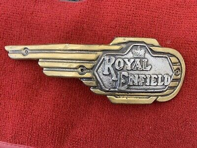 Royal Enfield tank badge motorcycle wall plaque