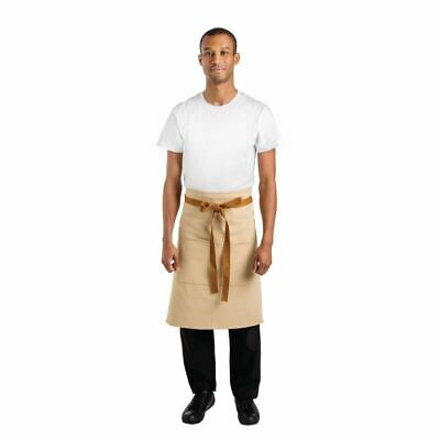Whites Chefs Apparel Bistro Apron Khaki - 1000 x 700mm