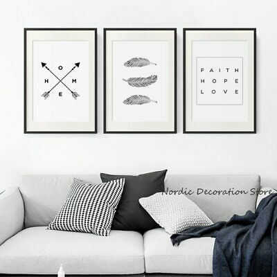Black And White Dandelion Posters And Prints Letter Love Wall Art Canvas