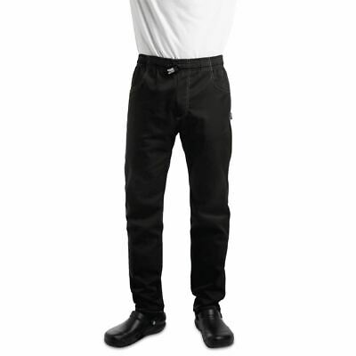 Le Chef Unisex Contemporary Slim Fit Chefs Resturant Trouser Button Bottoms XS