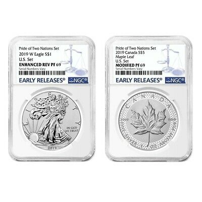 2019 Pride of Two Nations 2-Coin Set NGC PF 69 ER