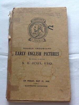 1935 Christies catalogue for the sale of early english pictures