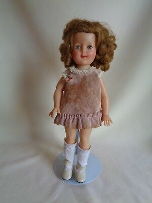 "Vintage Ideal Shirley Temple Sleepy Eyes Open Open Mouth Doll With 12"" Tall"