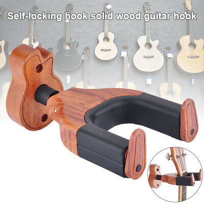 Wooden Wall Mount Guitar Hanger Holder Rack Guitar Keeper Wall Hanging Bracket