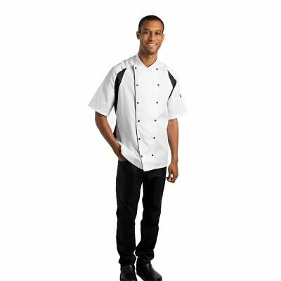 Le Chef Unisex Raglan Sleeve StayCool Jacket Short Sleeve Buttons Loose Fit L