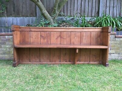 Antique Wooden Church Pew Bench Victorian Old Pine Reclaimed Architectural