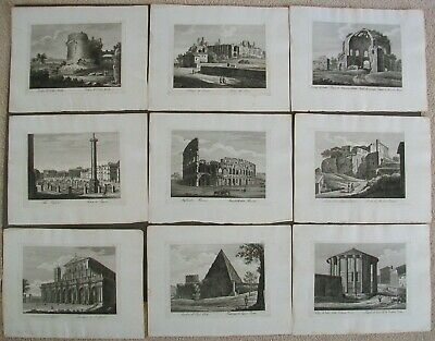 St Pauls Basilica Italy Architecture 9 Rome Antique Prints Colosseum 1818