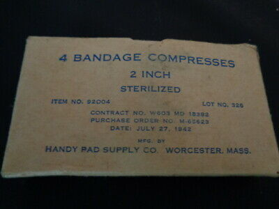 Medical US army Ww2 WWII cotton bandage compress USA 1942 marked