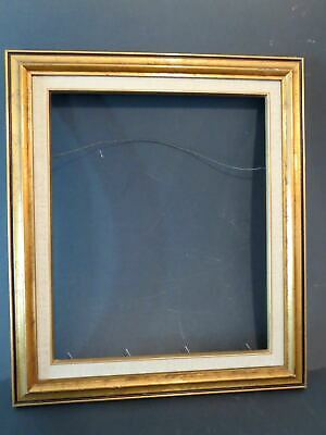 """Vintage 1930s GILDED WOOD PICTURE FRAME 15.25"""" x 18"""""""