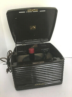 Vintage 1950s RCA Victor Bakelite Phonograph 45 RPM Record Player/Changer