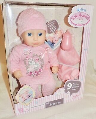 NEW My First Baby Annabell BABY FUN DOLL (700594) w/ 9 Functions - For Age 2+