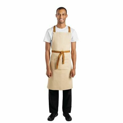 Whites Chefs Apparel X-Cross Back Apron Khaki - 700 x 1000mm