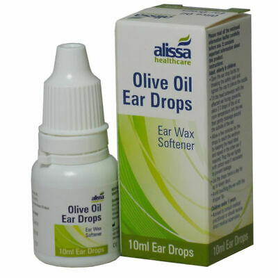 Olive Oil Ear Drops With Dropper 10ml - FROM GENUINE UK PHARMACY