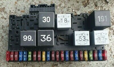 vw golf mk3 5 cabriolet convertible fuse box with relays 357937039