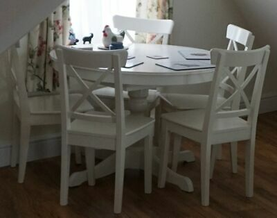 Brilliant Ikea White Extendable Dining Table 6 Chairs 102 00 Ocoug Best Dining Table And Chair Ideas Images Ocougorg