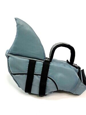 Top Paw Size Small Dog Dolphin Shark Fin Grey Safety Swimming Life Jacket
