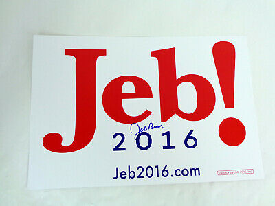 Jeb Bush President 2016 Signed Autograph Official Campaign Rally Sign Poster COA