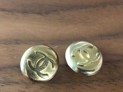 Chanel Goldtone Cc Logo Two Buttons