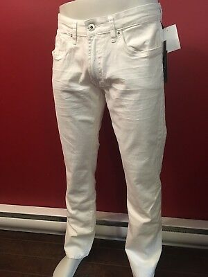 BUFFALO DAVID BITTON Men's Slim Straight White Jeans - Sizes 30 to 33 - NWT $109