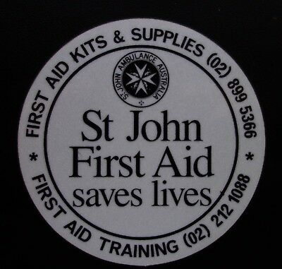 St John First Aid Saves Lives Reflective Sticker Decal