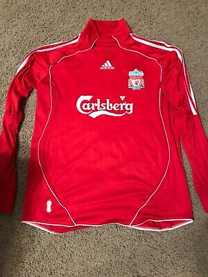 e3dbf7f57 ADIDAS LIVERPOOL FC LFC Soccer Jersey Size Large 2006/07 Gerrard Red ...