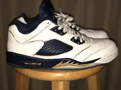 first rate 4c4ba 3a5df NIKE AIR JORDAN Retro 5 Low Dunk From Above Gold Navy White Size 14 Rare  Vintage