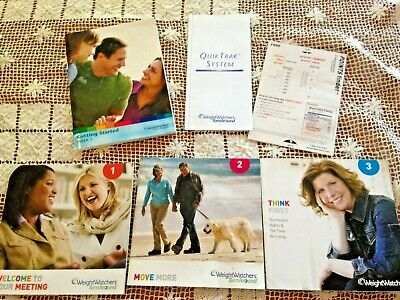 WEIGHT WATCHERS TurnAround Set of 4 BOOKLETS, POINTS Finder & QUIK TRAK Tracker