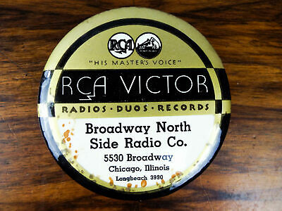 Vintage RCA Victor HMV Record Cleaner Pad Brush Chicago Illinois