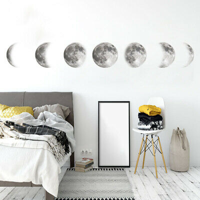 Luminous Moon DIY 3D Wall Sticker Glow In The Dark Home Decor Bedroom Decal Gift