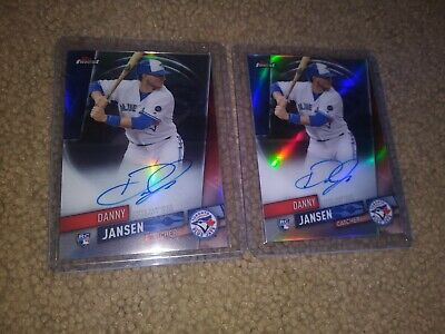 2019 Topps Finest Danny Jansen 2 CARD BASE AUTO LOT TORONTO BLUE JAYS RC