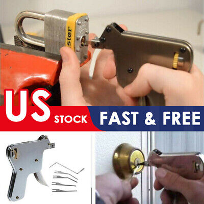 The Locksmith Tool with 5pcs Tip Door Lock Opener For Professional Use Hot SALE