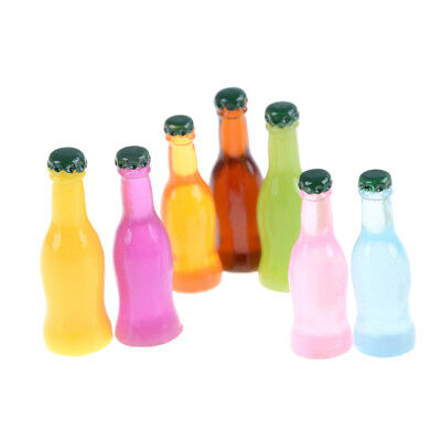5Pcs 1/12 Miniature Drinking Bottles Juice Dollhouse Food Home Kitchenware KW