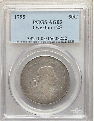 1795 PCGS AG03 Flowing Hair Bust Half Dollar O-125 Type Coin 224 Years Old AG3