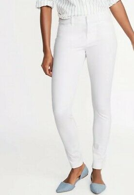 Old Navy Mid-Rise Full-Length Pixie Pants - White NWT 6 Petite
