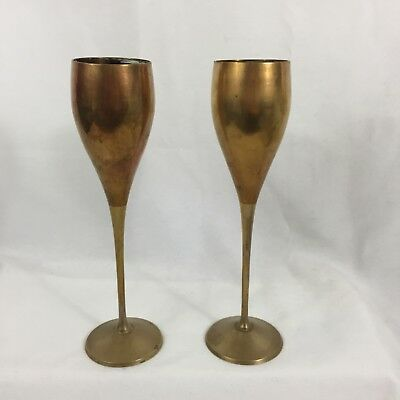 International Silver Co Goblet Chalice Wine Glass Set of 2 Silver Plated Vintage