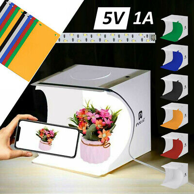 Foldable Portable Photo Mini Light Box Studio Tent Home Photography LED Light AU
