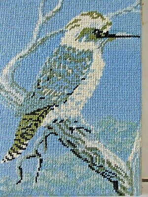 TAPESTRY CRAFT HAND MADE PICTURE COMPLETED & FRAMED kOOKABURRA