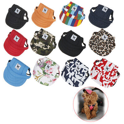 Pet Dog's Hat Baseball Cap Windproof Travel Sports Sun Hats for Puppy Large new.