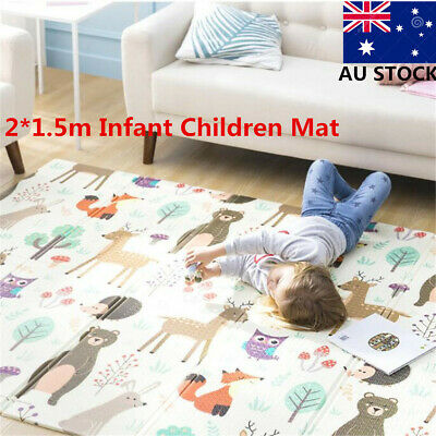 2*1.5m Infant Children Kids Mat Foldable Cartoon Baby Play Mat Babe Carpet XPE