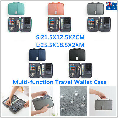 Waterproof Travel Wallet Passport Holder Document Card Organizer Bag ID Purse AU