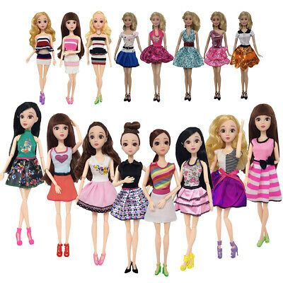 16 Type Pant Short Skirts Casual Outfit Dress Clothes For Barbie Doll Accessorie