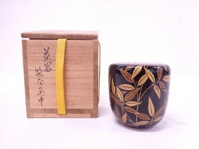 4254587: Japanese Tea Ceremony / Lacquered Tea Caddy / Natsume Bamboo