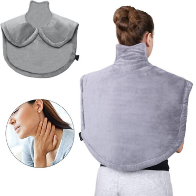 Electric Heating Pad Wrap Shoulder Neck Back Pain Relief Therapy Large Full Body